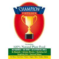 CHAMPION organic fertiliser pellets